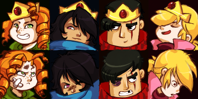 Character win/loss portraits