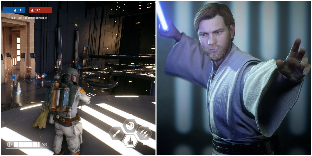 EA Star Wars Battlefront II Obi-Wan Kenobi and Boba Fett