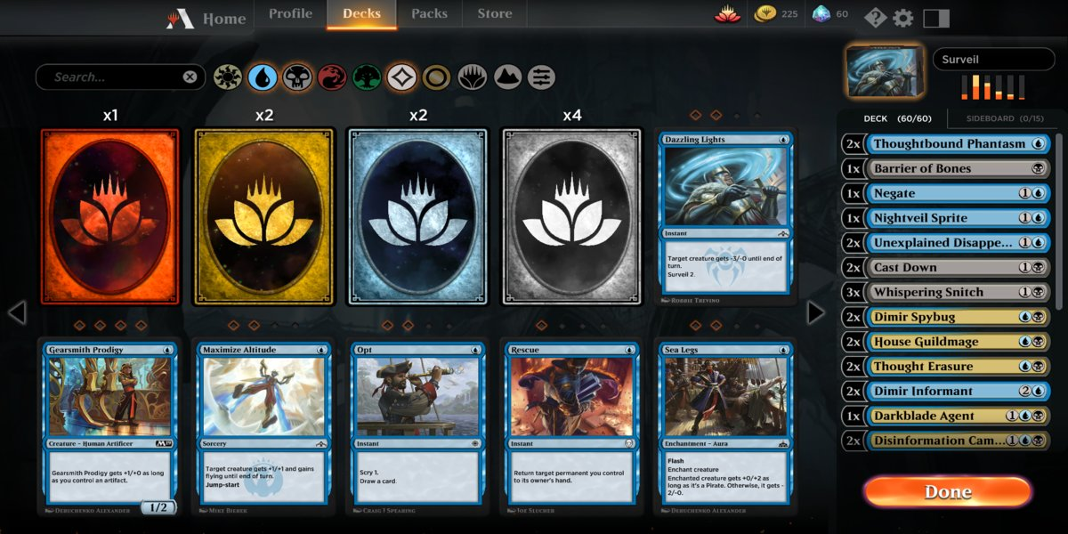 MTG Arena Deckbuilding And Wildcards