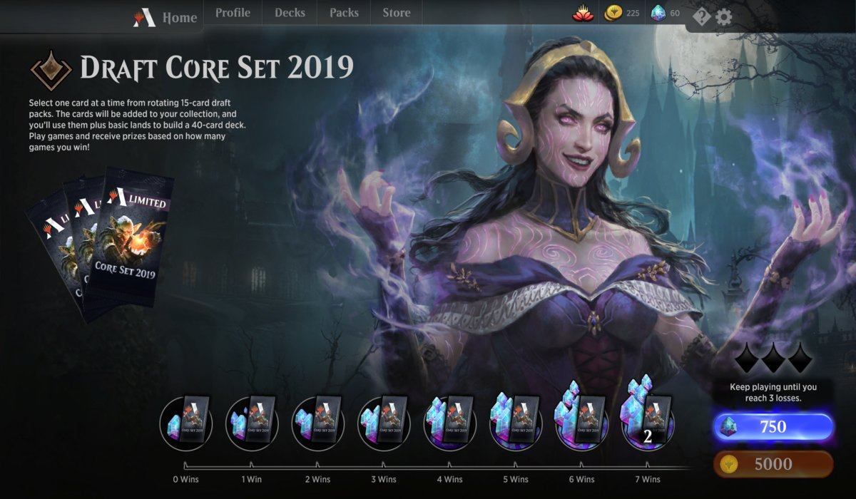 MTG Arena Core Draft 2019 Gameplay