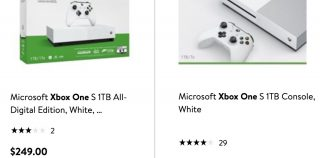 Xbox One S with Blu-ray drive is cheaper than All-Digital model (at Walmart)