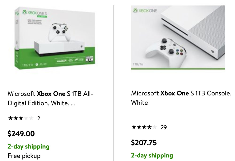 Xbox One S with Blu-ray drive is cheaper than All-Digital