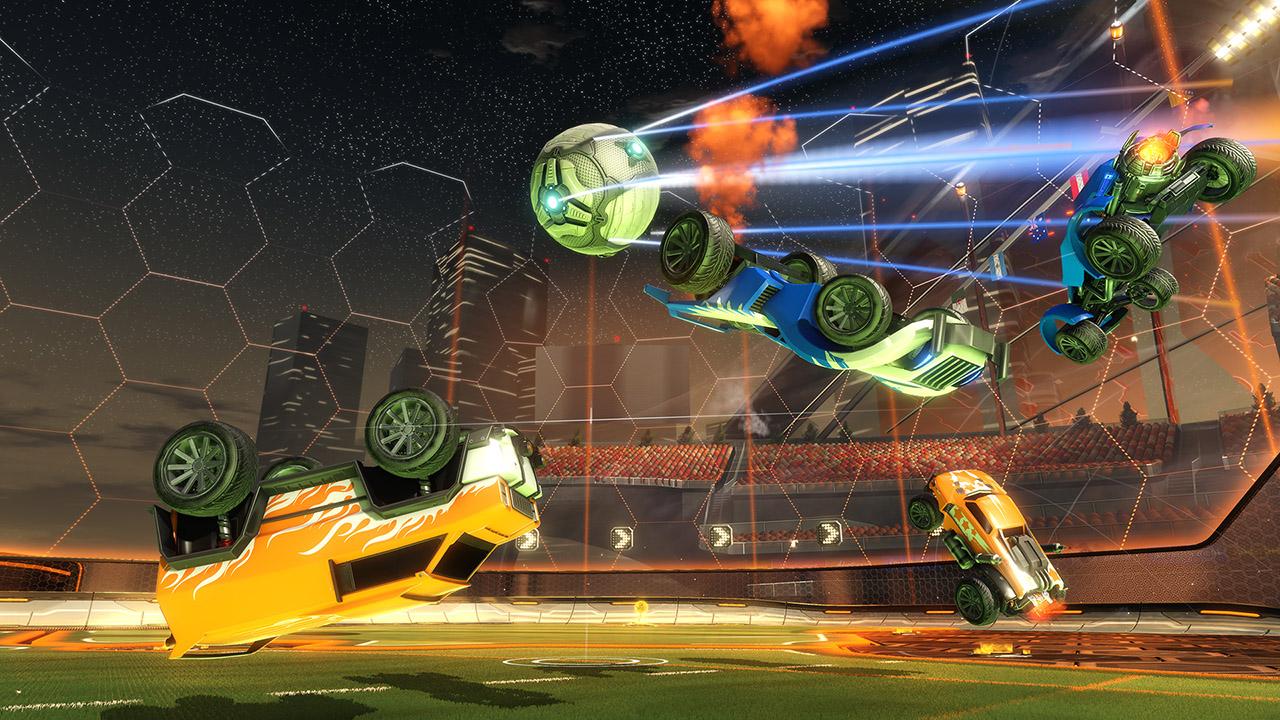 A Rocket League Game Still